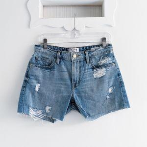 Frame Forever Karlie Distressed Cutoff Shorts